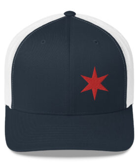 Chicago Flag Trucker Hat - One Star | Navy & White