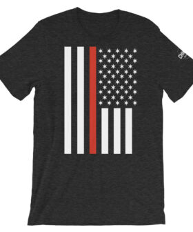 Thin Red Chicago Line Police Flag T Shirt