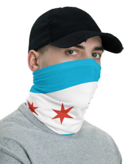 Chicago Flag Neck Gaiter